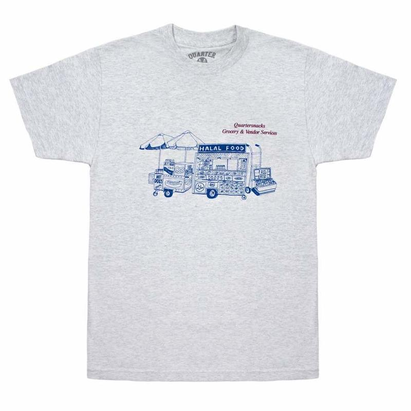 QUARTERSNACKS GROCERY & SERVICES TEE - Ash Grey