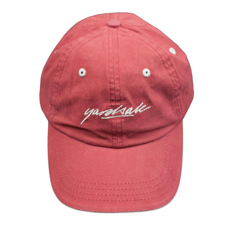 YARDSALE SCRIPT CAP - Strawberry/Tan
