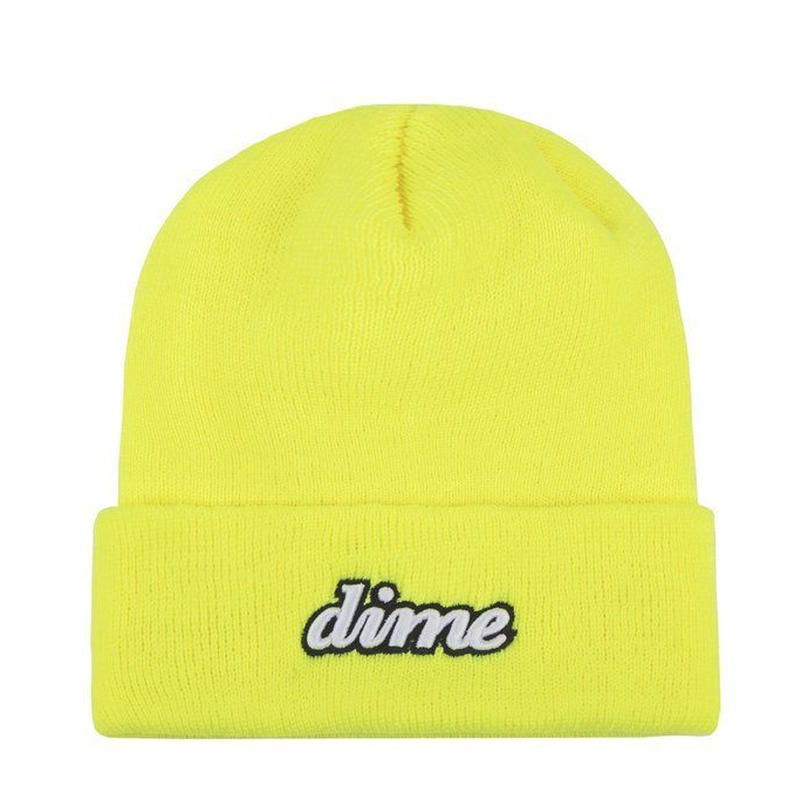 Dime CURSIVE BEANIE-Safety Yellow