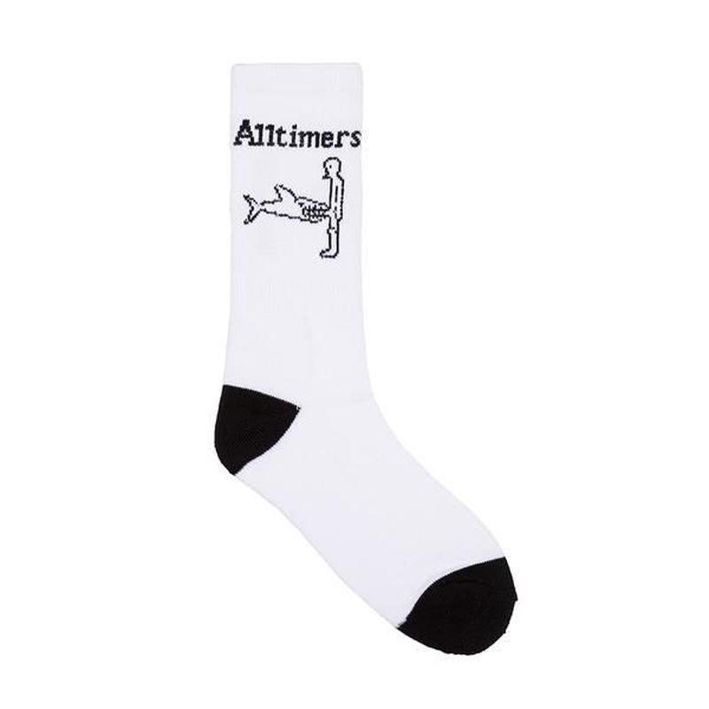 ALLTIMERS SHARK DICK SOCKS - WHITE/BLACK