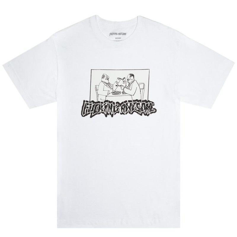 FUCKING AWESOME SLICED TEE - WHITE