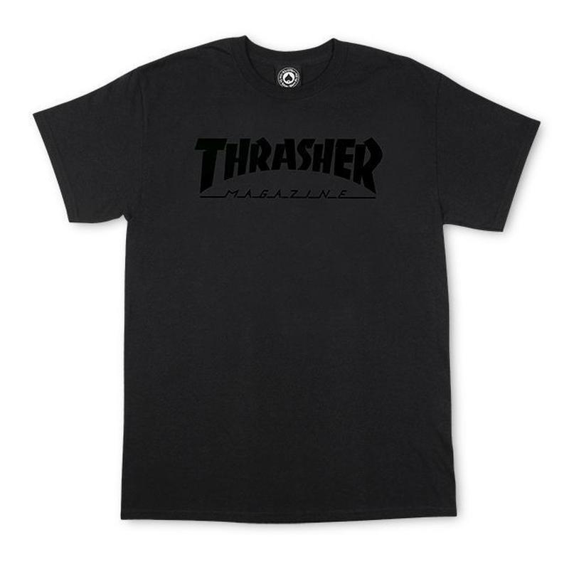 THRASHER SKATE MAG T SHIRTS - BLACK OUT