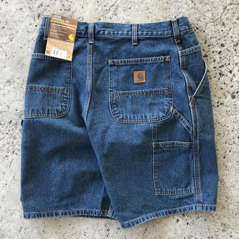 CARHARTT DENIM WORK SHORT B28 - DEEP STONE