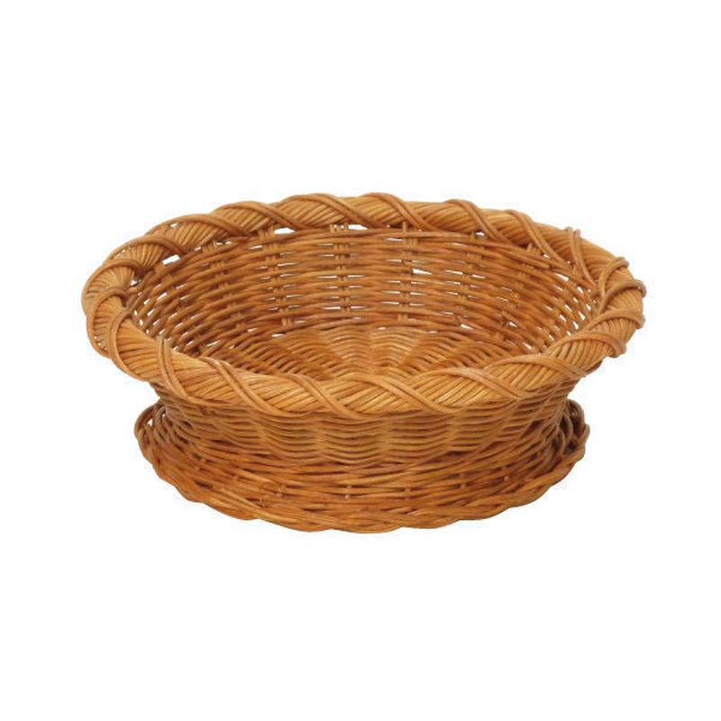 型番009 籐かごバスケット ラタン丸かご 小物入れ お菓子や果物の盛りかご 【かごのお店ラッセル STORES】