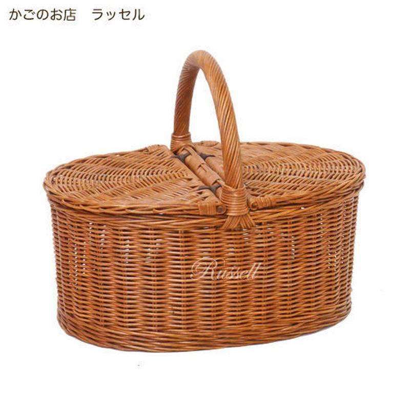 型番622(622) 籐かご ピクニックバスケット 行楽・旅行用かご 整理カゴ 【かごのお店ラッセル STORES】