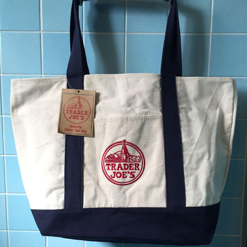TRADER JOE'S CANVAS TOTE BAG