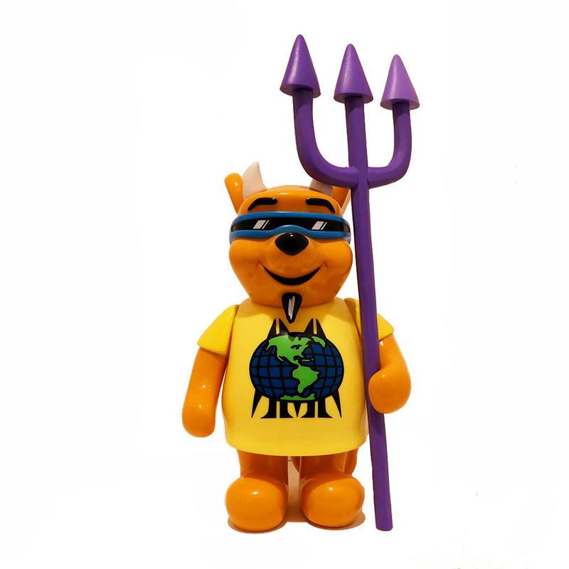 """Marc McKee:Rocco 3 Devil Bear OG  sofubi  toy H:9.8""""(25cm)"""