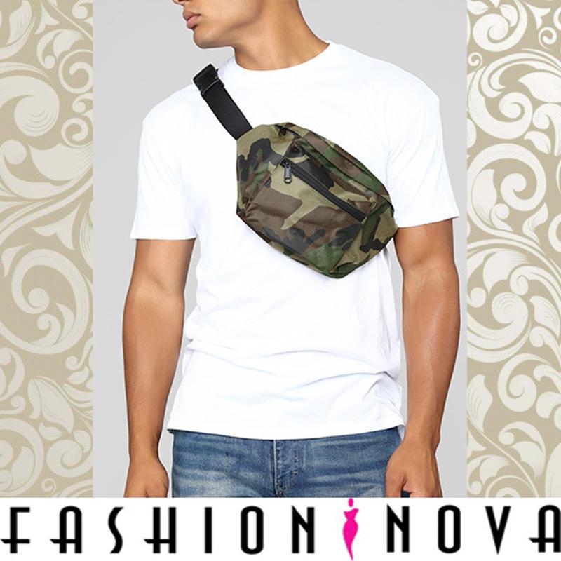 即納【Fashion Nova】カモフラージュプリントポーチ