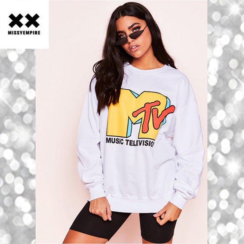 大人気 ♪ MISSYENPIRE MTVグラフィック スウェット プルオーバー
