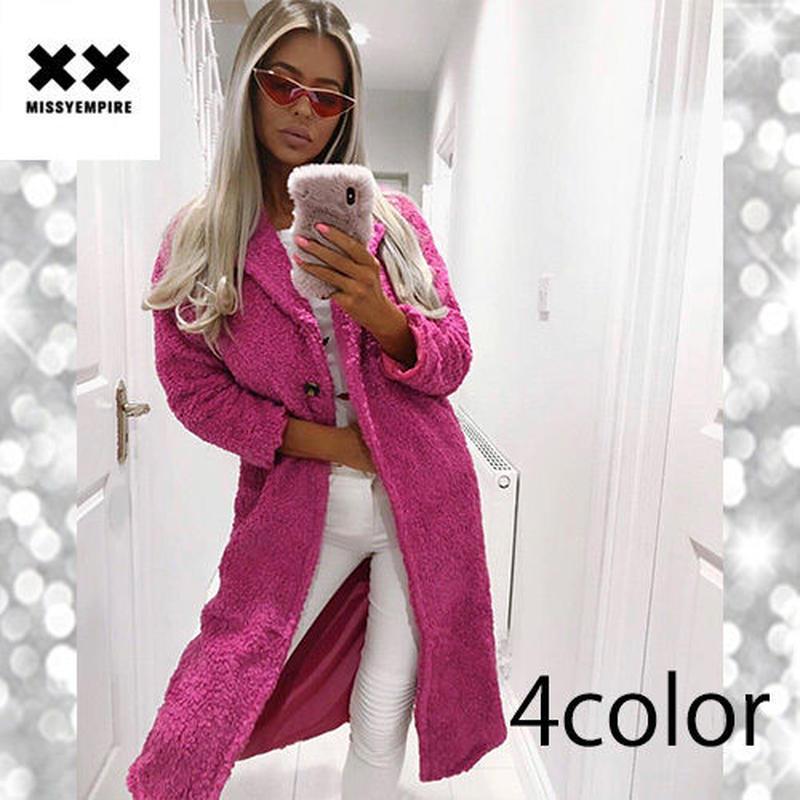 【MISSY EMPIRE】4color テディロングラインコート