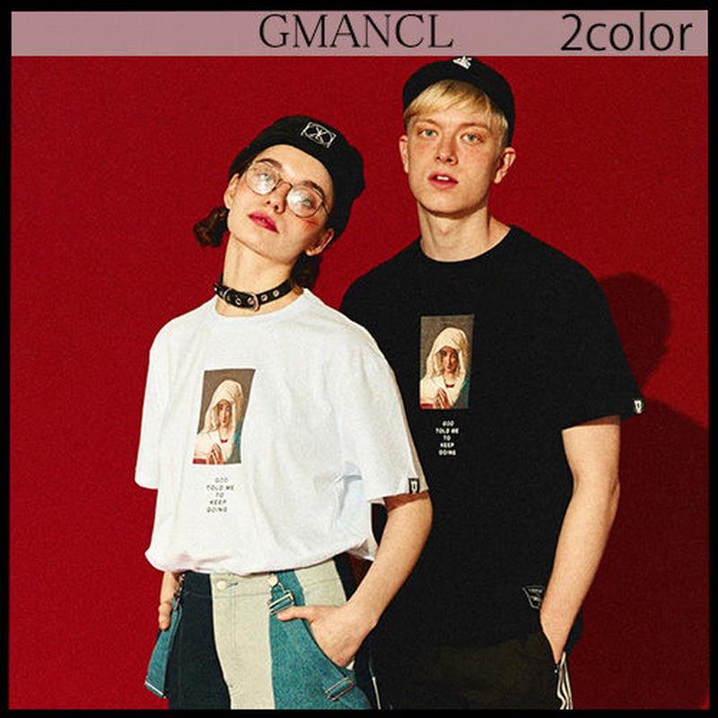 【GMANCL】2color GODプリント半袖Tシャツ