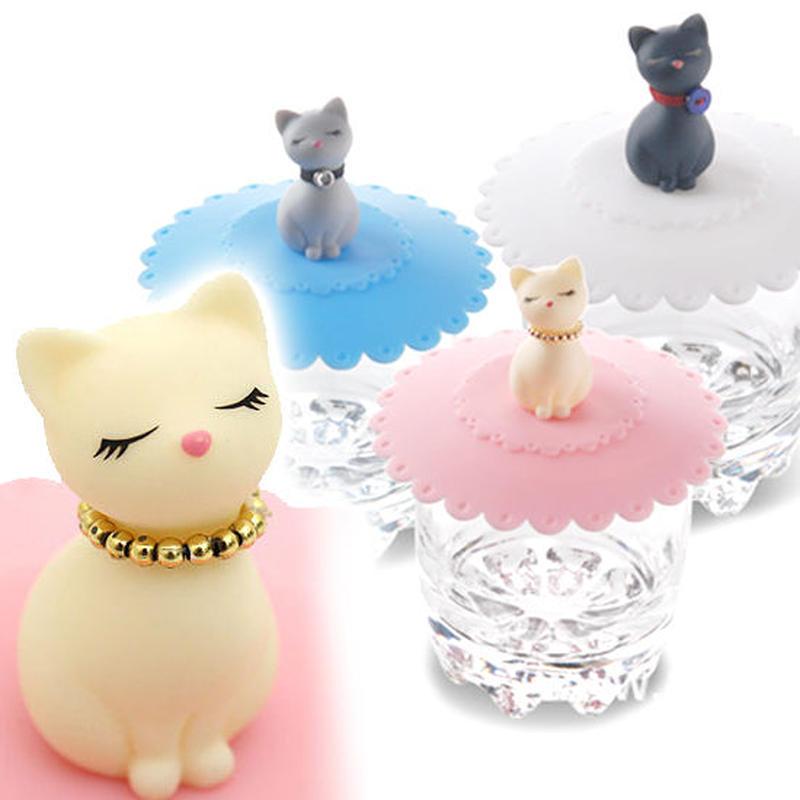 シリコン マグカップカバー 猫 ホコリからしっかりガード