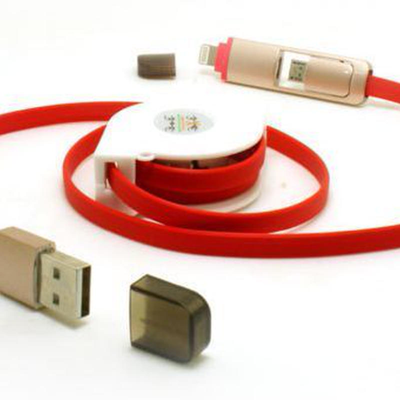 巻取式2wayUSB充電ケーブル