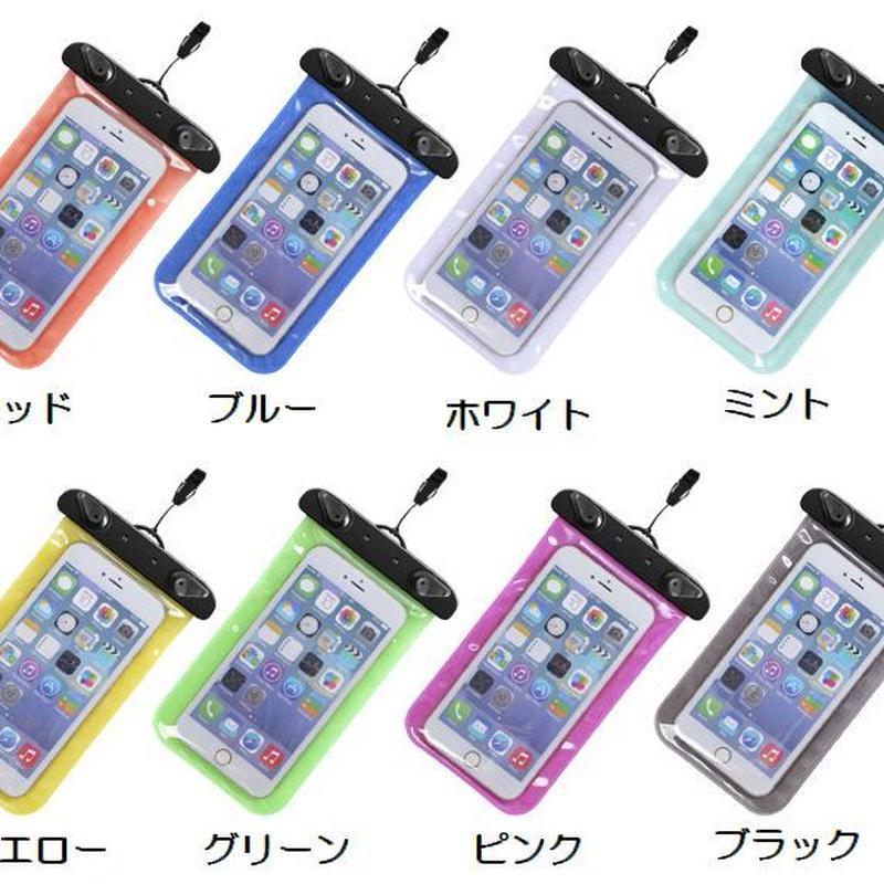 iPhone 6Plus も入る大きめサイズのスマートフォン用防水ケース  アームバンド付き 防水保護等級IPX8取得