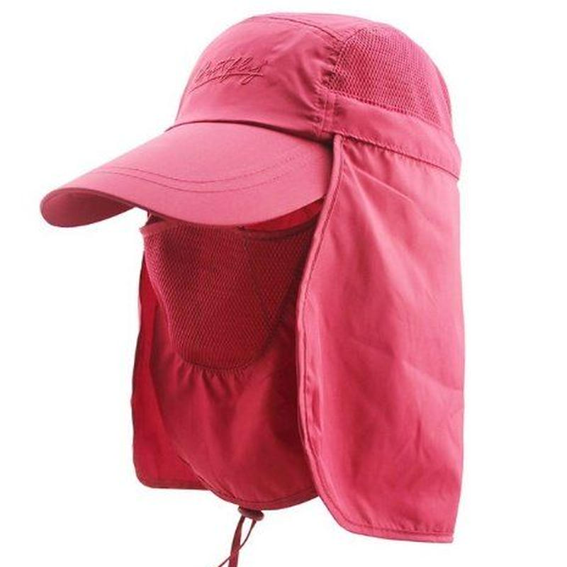 3WAY UVカット帽子 マスク・日除けでしっかり紫外線をカット