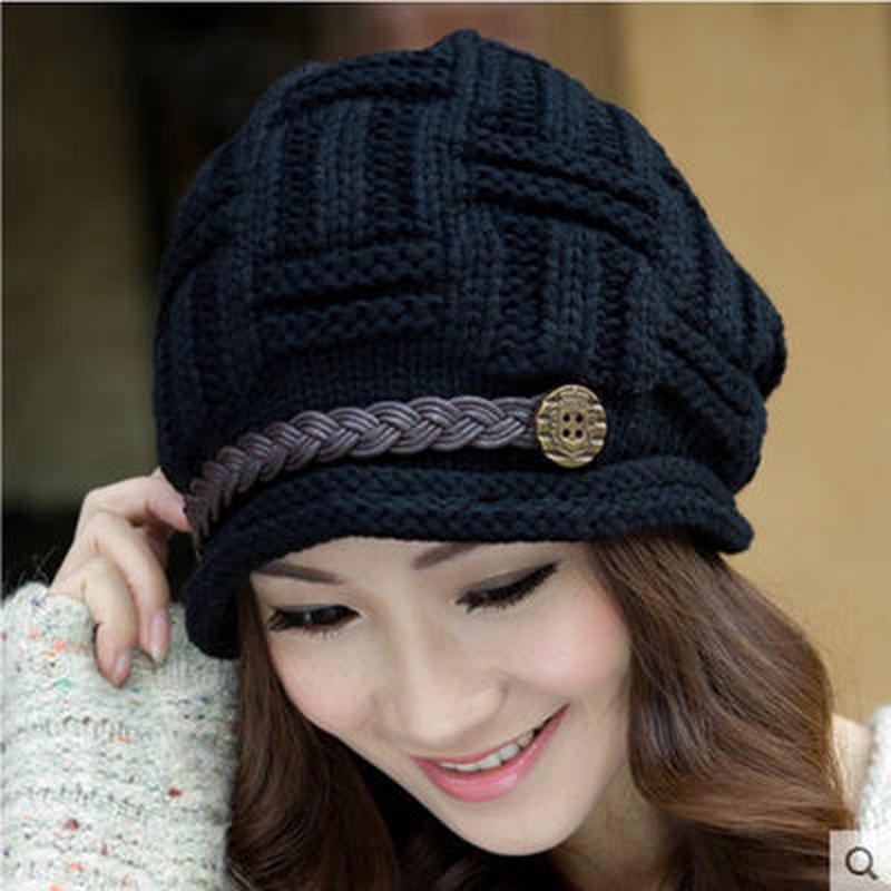 バスケット編みニット帽