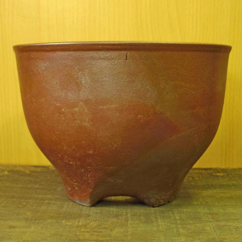 伝市鉢 サクラソウ型  のぼり窯焼き 5号