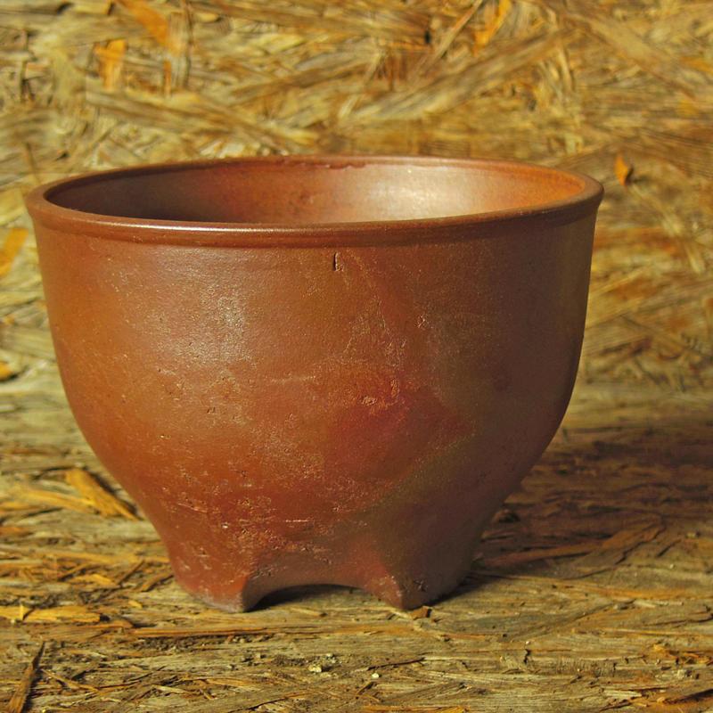 伝市鉢 サクラソウ型  のぼり窯焼き 6号