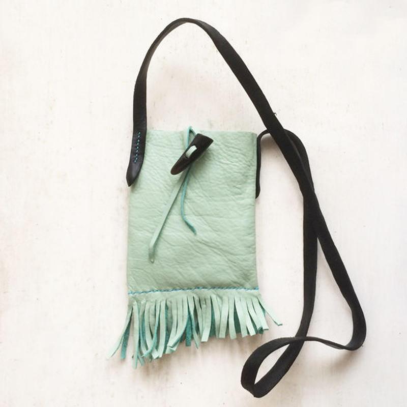 leather fringe bag