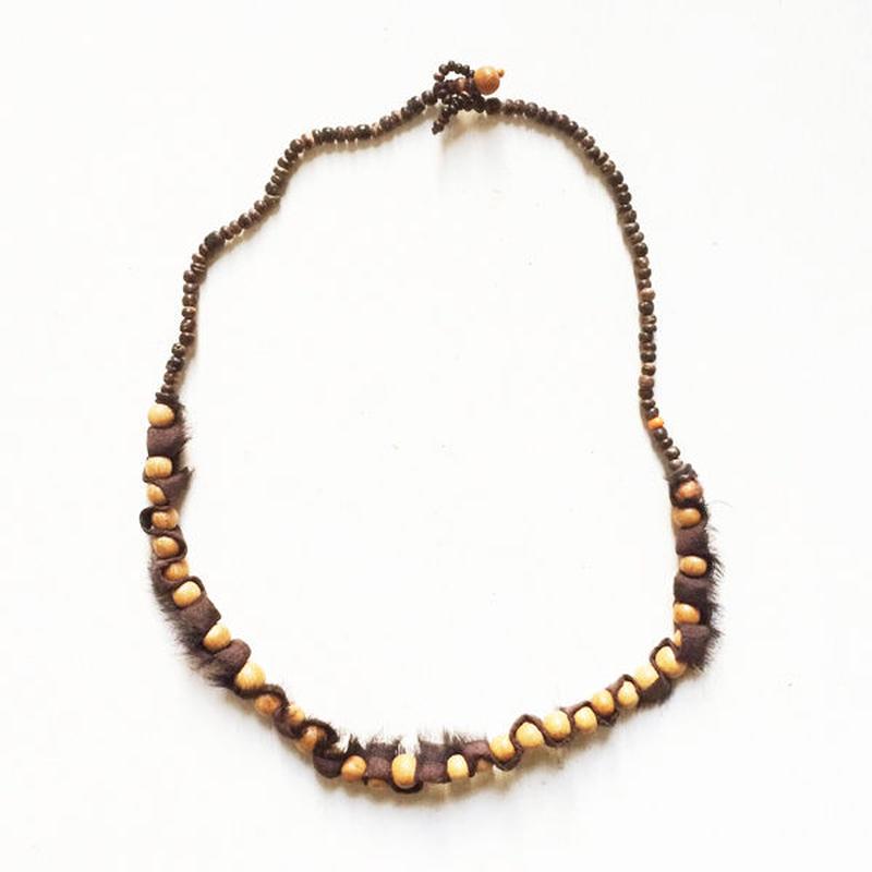 Wood Beads/ Silk-a