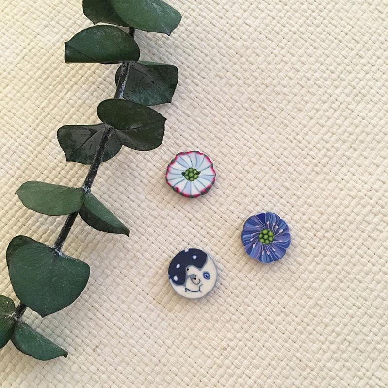 Hamilton Workshop_デンマークのハンドメイドボタン(お花など))