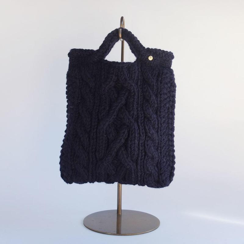 手編みニットバッグ