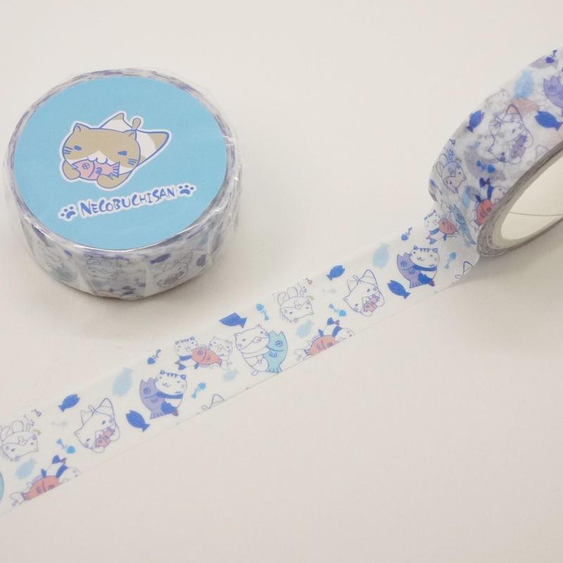 ねこぶちマスキングテープ(総柄)51852007