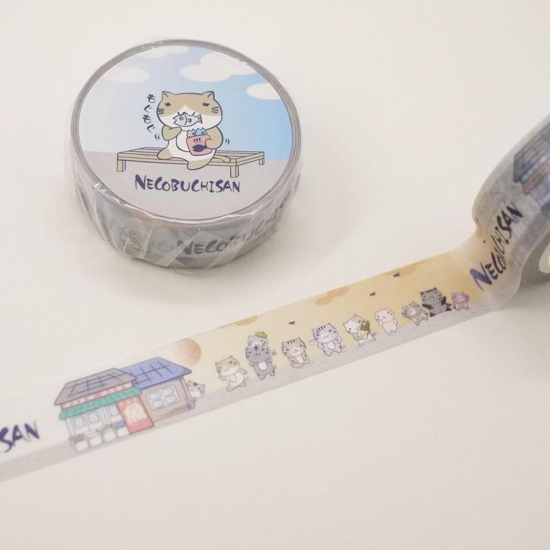 ねこぶちマスキングテープ(朝昼晩)51852011