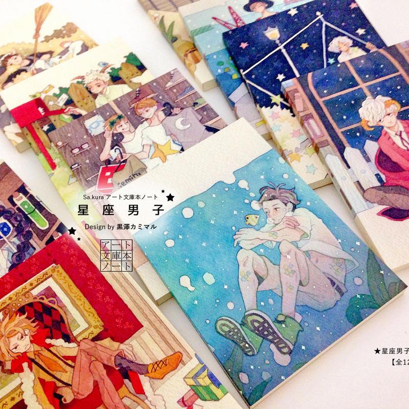 【セット】星座男子の文庫本ノート【12冊】