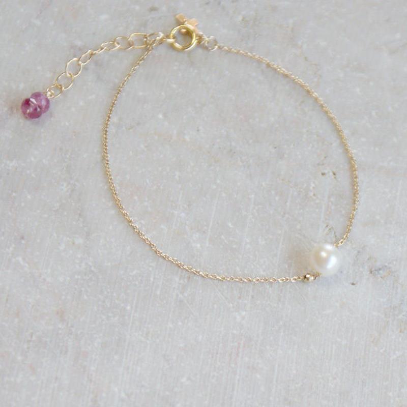 シンプルな一粒アコヤ本真珠ブレスレット