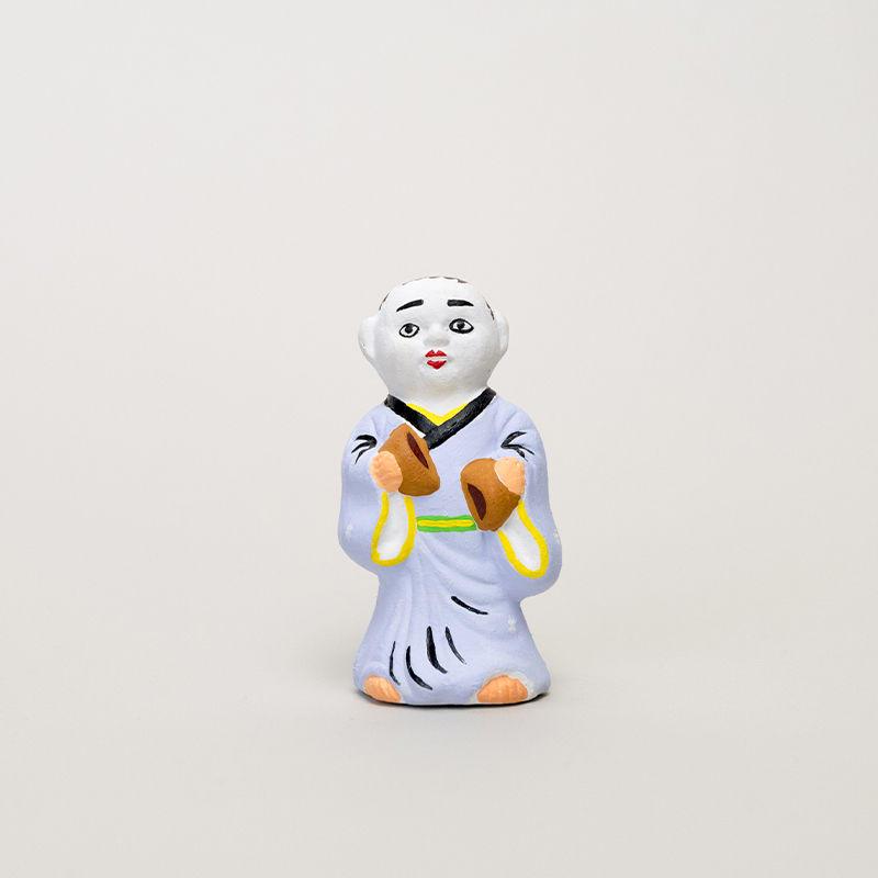 尾崎人形 饅頭割人形(小)紫