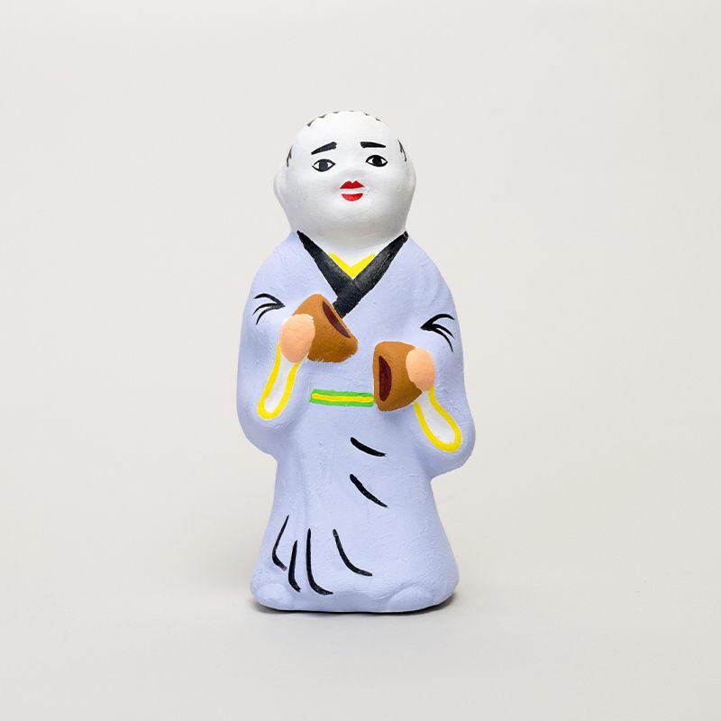 尾崎人形 饅頭割人形(大)紫