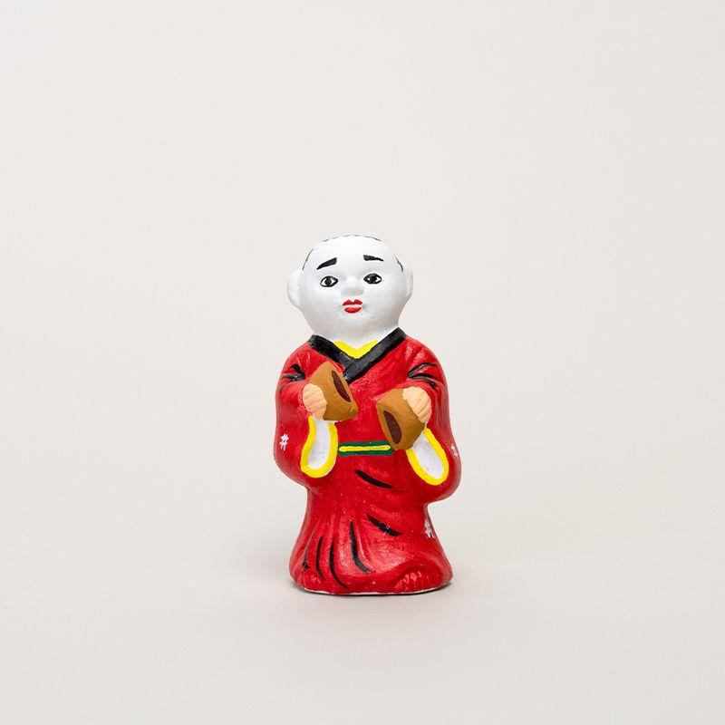 尾崎人形 饅頭割人形(小)赤