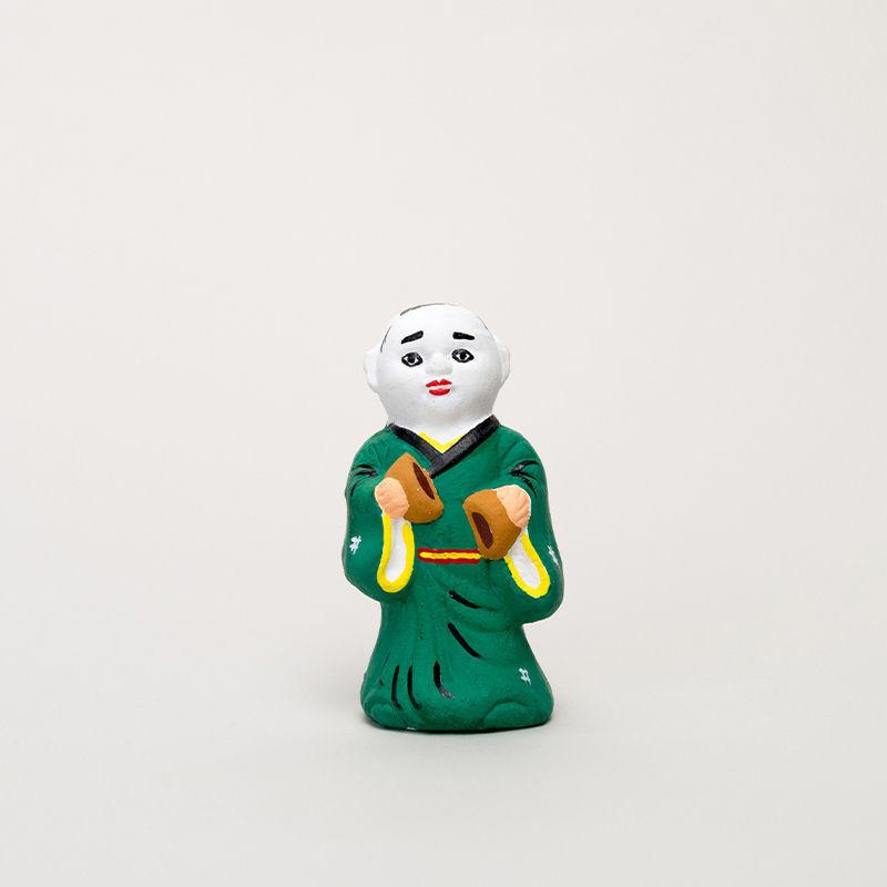 尾崎人形 饅頭割人形(小)緑