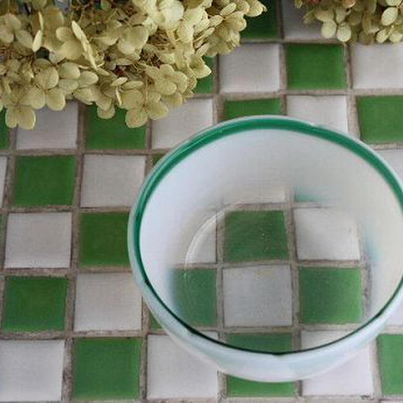品番 g-0551 氷コップ緑縁 丸