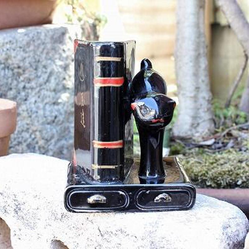 品番 t-0295 黒猫 ペン立て