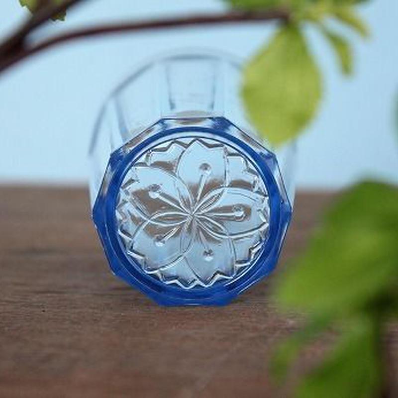 品番 g-0667 グラス Blue 桜