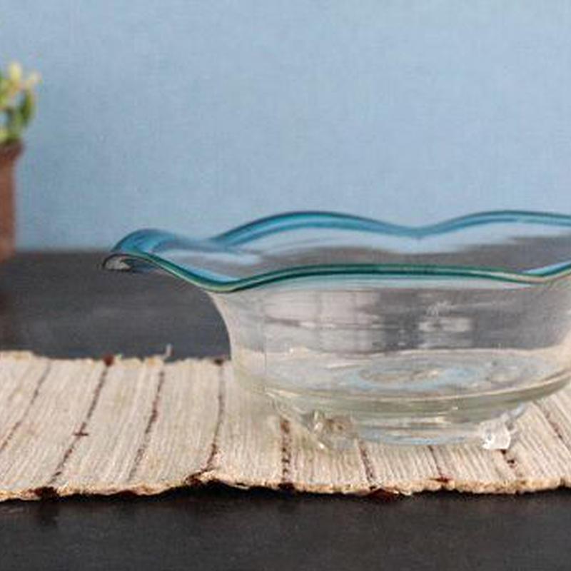 品番 g-0552 青縁 ガラス器