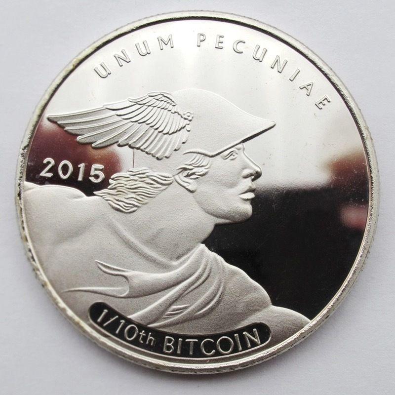 【在庫ラスト1枚】ビットコイン シルバーコイン 2015年