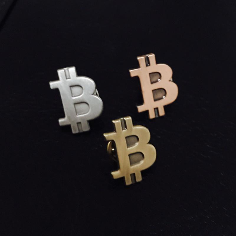 ビットコイン ピンバッチ アンティーク3色セット