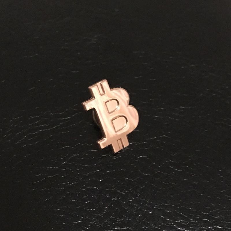ビットコイン ピンバッチ ブロンズ