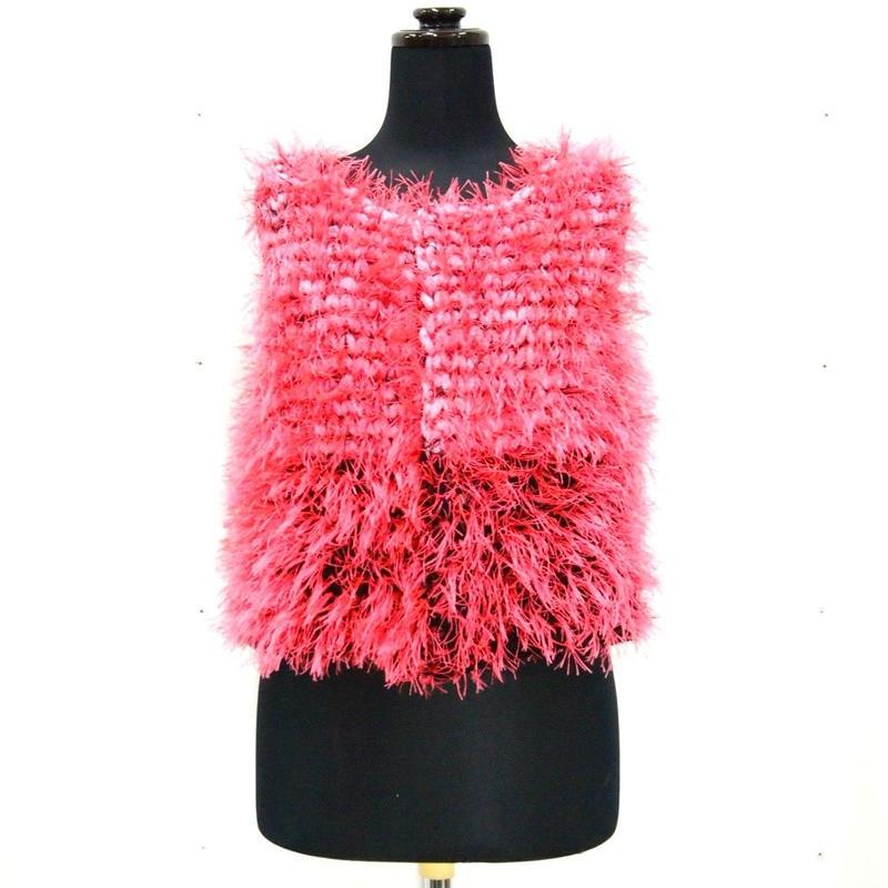 Long fur short jilt < neon Pink × Black >