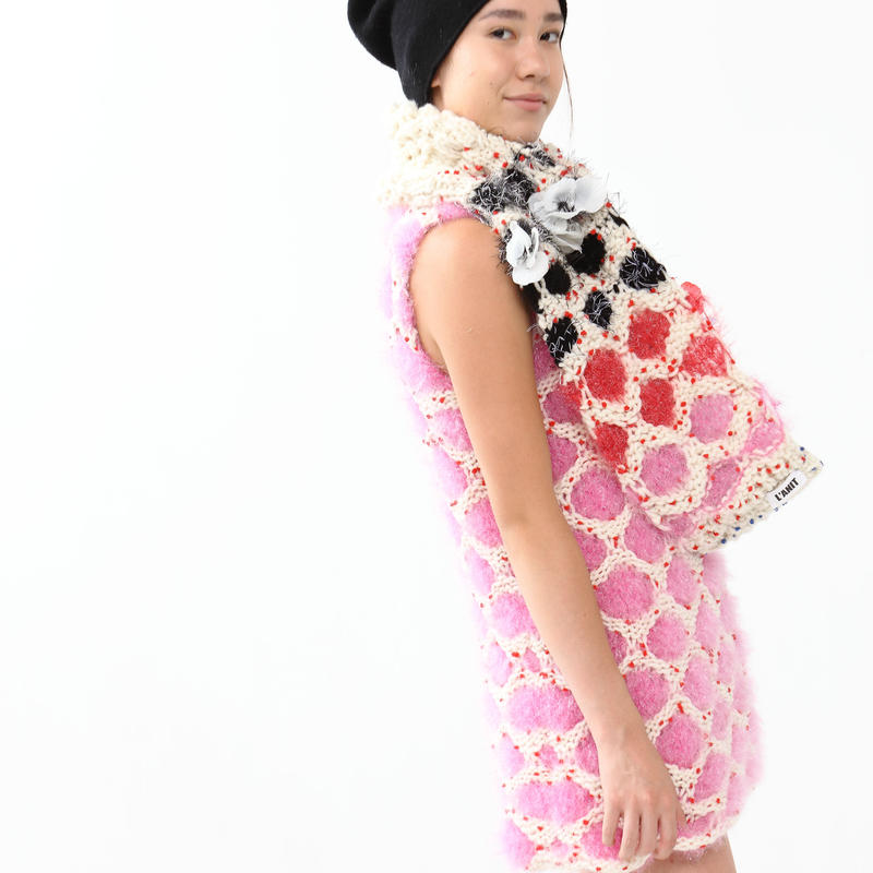 Jelly Dot One Piece  < Turtle-neck / Pink >