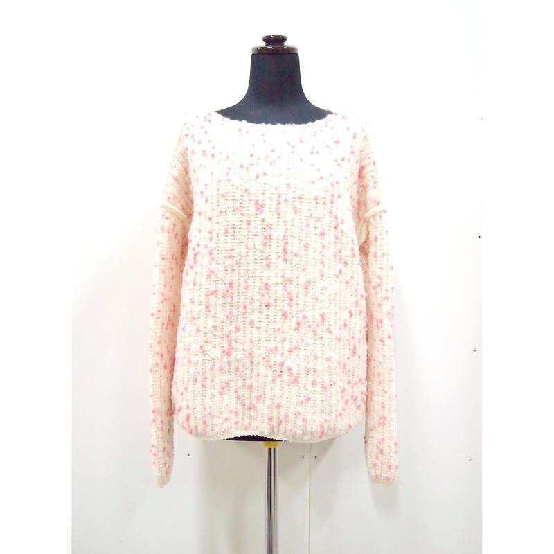 【Pre-order】Pom Pon knit <PNKdot / PNK+REDdot>