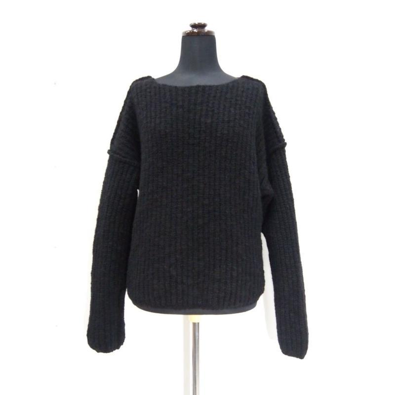 Plane knit < BLACK>_Ladies