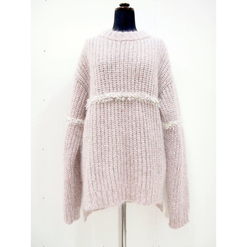 【Pre-order】Silk line silver mohair < Silver × L.pink >