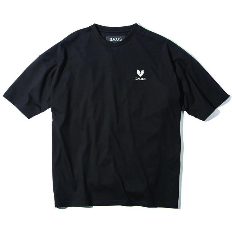 Deviluse Heartaches Big T-shirts BLACK