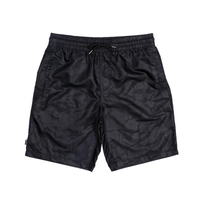 RIPNDIP Black Out Nylon Shorts  Black Out Camo