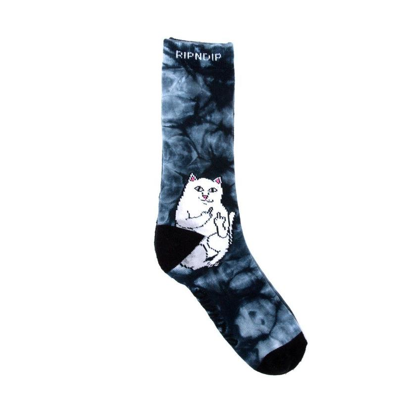 RIPNDIP Lord Nermal Socks BLACK DYE