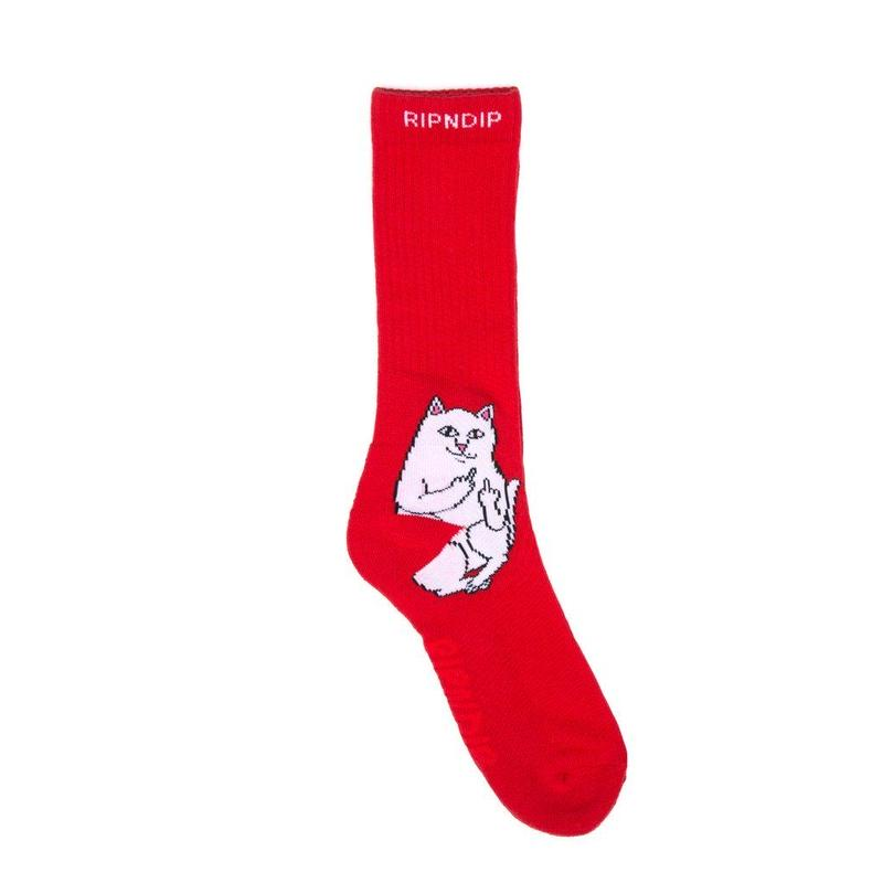 RIPNDIP Lord Nermal Socks RED